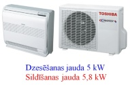 Toshiba sienas - grīdas konsole 5kw